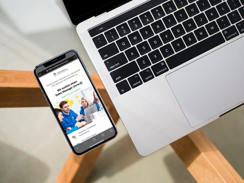 One-Click-Bewerbung: Mobile Bewerbung mit nur einem Click